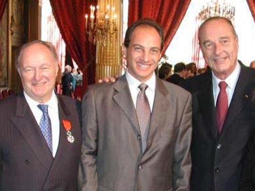 Edouard Cukierman is honoring President Chirac at the Elysee