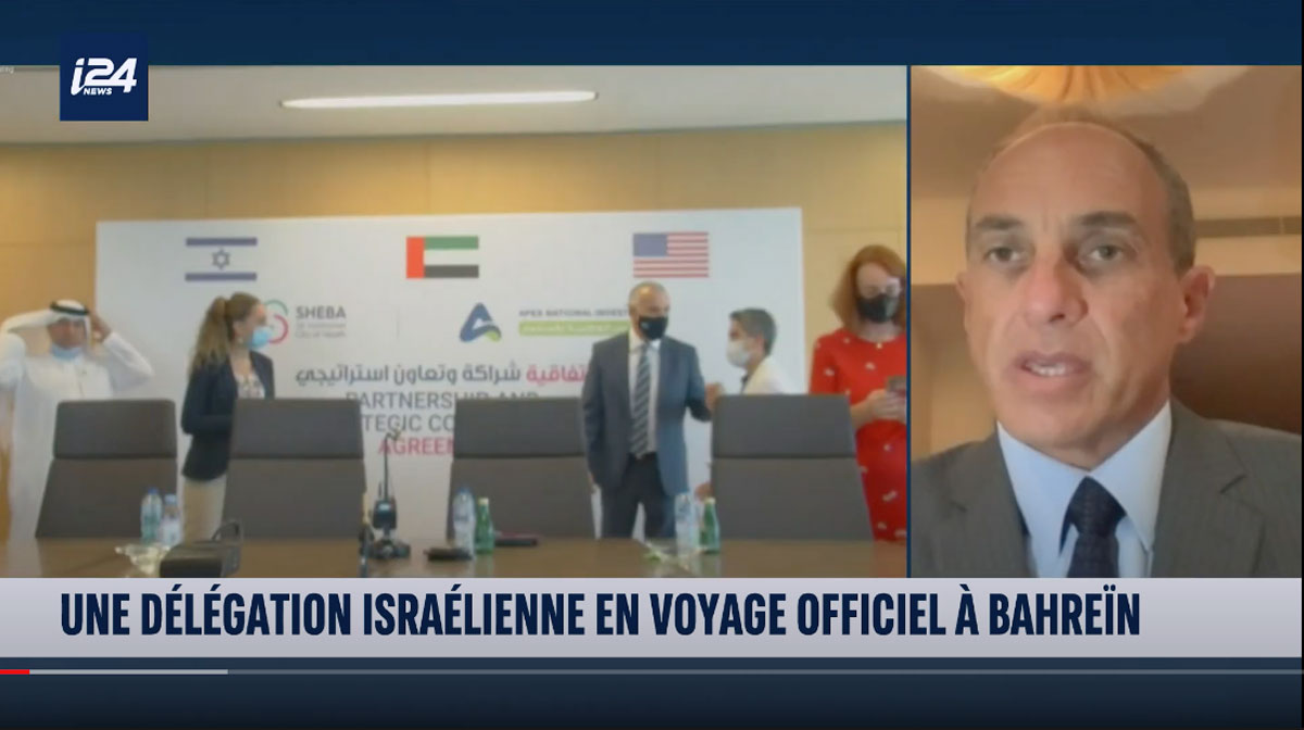 i24news – Edouard Cukierman about the peace agreement with UAE